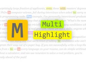 科研神器Multi-highlight——关键词太多,想点亮?