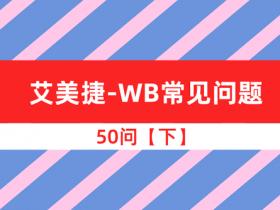 艾美捷-WB常见问题-50问【下】