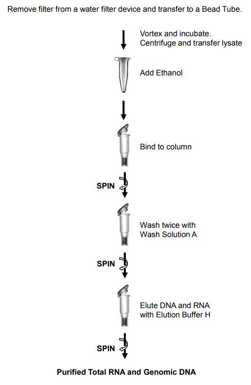 水RNA/DNA提取纯化试剂盒操作流程