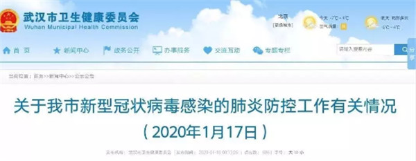 武汉新型冠状病毒肺炎